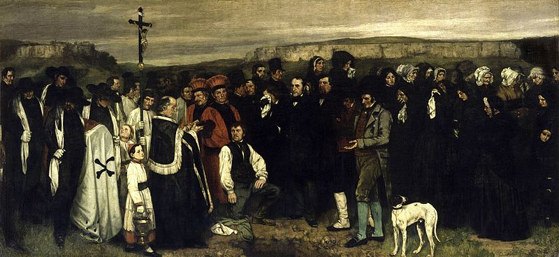 Un enterrement à Ornans (1849-1850)  par Gustave Courbet